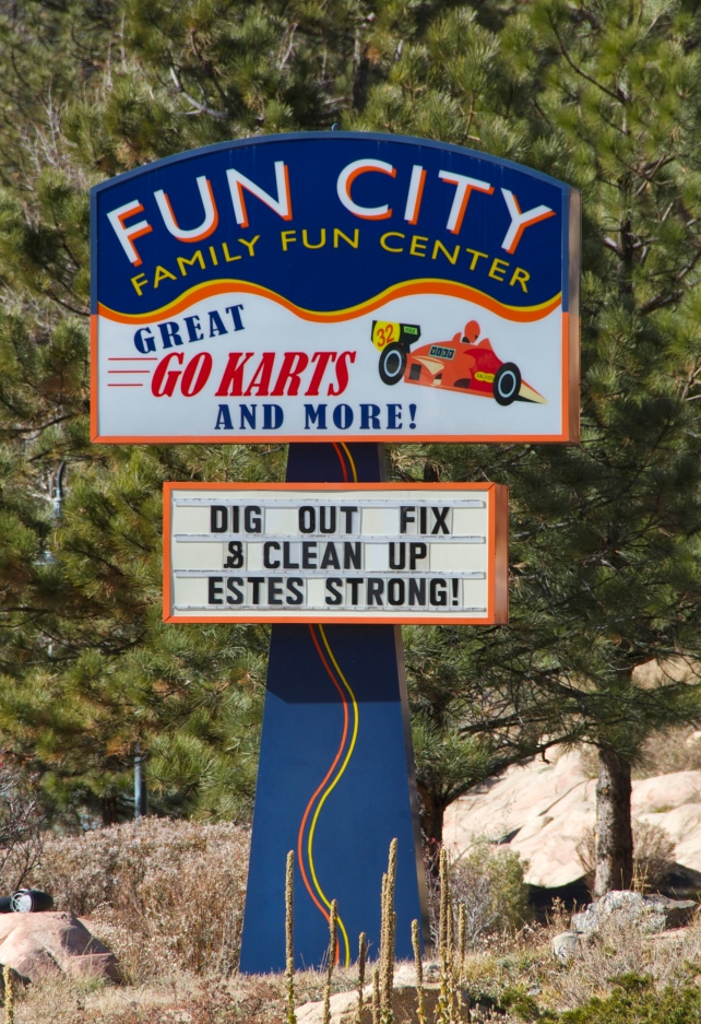In Estes, this sign seemed to embody the attitude of residents.