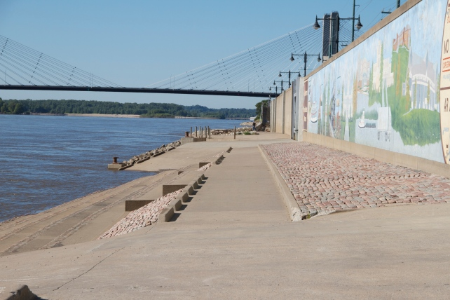 Flood wall along the Mississippi River, Cape Girardeau, MO.