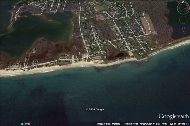 Green Hill Beach with Roads