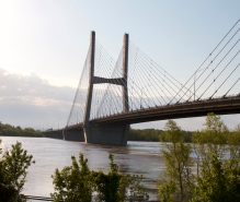A closer look at the Emerson Memorial Bridge.
