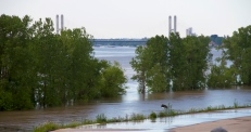 The view from the water treatment plant in Cape Girardeau. This is looking south from a point north of downtown.