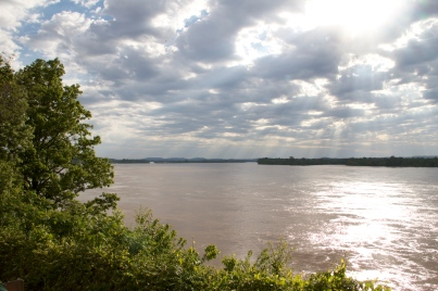 Looking north from Cape Rock in Cape Girardeau, MO.